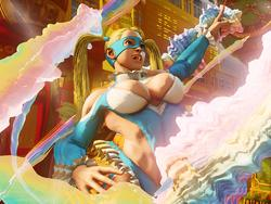 Street Fighter V character R. Mika has a one-hit KO attack that is impossible to pull off