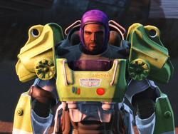 Buzz Lightyear's armor modded into Fallout 4