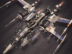 Decorate your room with a Star Wars X-Wing cross-section - now only $19