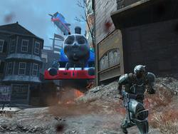 Thomas the Tank Engine has pulled into Fallout 4 station. Toot. Toot.