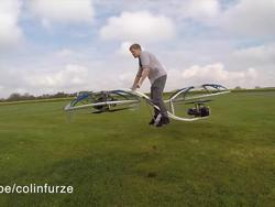 This guy made an insane hoverbike using everyday parts