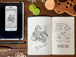 Moleskine's latest smart notebook creates digital copies of your sketches, notes