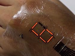 Incredible wearable LED display looks like a digital tattoo from the future