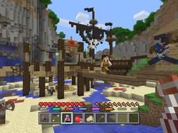 Minecraft for consoles getting mini games, and we've tried the first: Battle