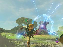 Zelda: Link beats a Guardian with no armor and only a horse