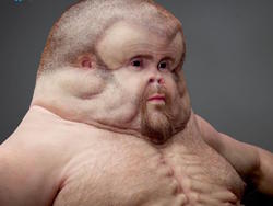Buckle up: This monster is what we'd look like if we evolved to survive car accidents