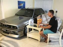 Dude parks BMW M3 inside his house during Hurricane Matthew