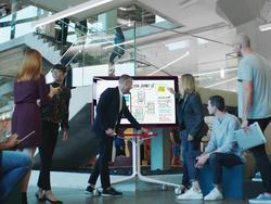 Google Jamboard is a digital whiteboard for office collaboration