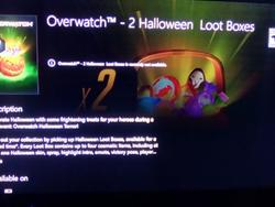Overwatch Halloween Loot Boxes leak on Xbox Store, Sombra's logo on candy