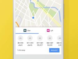 You can now hail an Uber or Lyft right from Google Maps