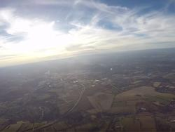 Crazy dude flies his paramotor to 15,000 feet and films the whole thing
