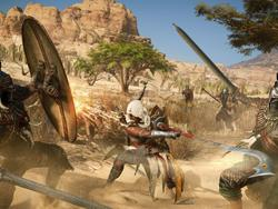 How is Assassin's Creed Origins combat different from the past?