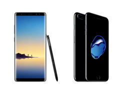 Galaxy Note 8 vs iPhone 7 Plus: Samsung outclasses Apple
