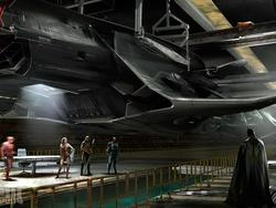 Get a load of Batman's gigantic flying jet in Justice League