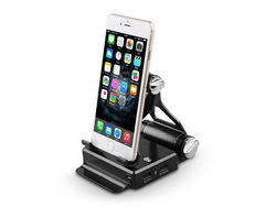 Charge your device in style with this podium-style foldable stand