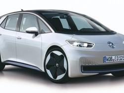 An image of Volkswagen's first production electric car has leaked