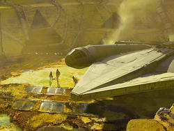 These 30 concept designs for Solo's Millennium Falcon are so cool