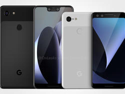 Pixel 3 renders surface, showing Google's next flagship in full