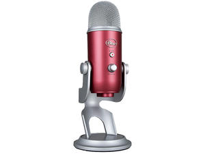 Get the Steel Red Blue Yeti USB-powered desk mic for a super low price