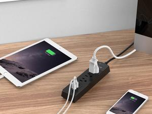 This iClever power strip with 3 AC outlets and 3 USB ports is down to $12