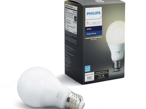 Add to your smart lighting with the Philips Hue white bulb on sale for $10