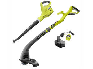 Clean the yard with the Ryobi string trimmer and blower combo kit for $79