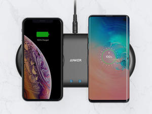 The new Anker PowerWave 10 pad wirelessly charges two smartphones at once