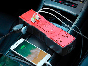 Power up anything in your car with this 200W Power Inverter on sale for $16
