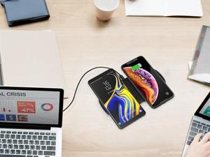 Charge two phones at once with $11 off Choetech's dual wireless charger