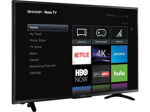 Grab a new Sharp 43-inch 4K Roku TV for $90 off today