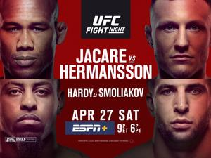 Stream Jacare-Hermansson on UFC Fight Night on April 27 in the U.S.