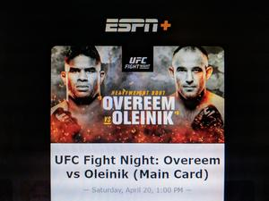 How to stream Overeem-Oleinik on UFC Fight Night TONIGHT on ESPN+