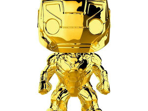 Just $5 will score you a gold chrome Funko Pop! Iron Man figure right now