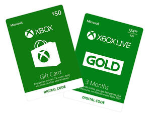 Buy a $50 Xbox gift card and get three months of Xbox Live Gold for free