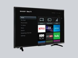 Stream it all with Sharp's 43-inch 4K HDR Roku TV on clearance for $200