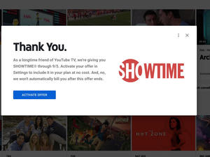 YouTube TV throws in free Showtime for longtime subscribers