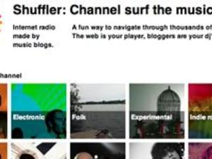 Shuffler: Channel Surfing and Blog Discovery Set to Music