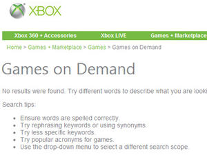 Xbox 360 Marketplace Down, Microsoft Investigating Problem