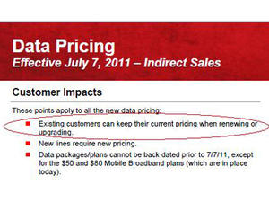 Current Verizon Customers Won't Go to Tiered Plans?