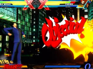 Playing Phoenix Wright in Ultimate Marvel vs. Capcom 3