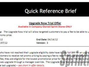 Sprint Now Offering Early Upgrade Program to Customers