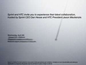 """Sprint and HTC Send out Invites to """"Experience Latest Collaboration"""" on April 4th"""