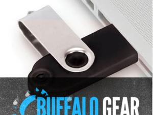Buffalo Gear: Voice Authenticating USB Drive, Punch-Out Collages and Jawbone Big Jambox