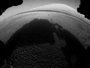 Mars Curiosity Rover Sends Back First Image of Mount Sharp