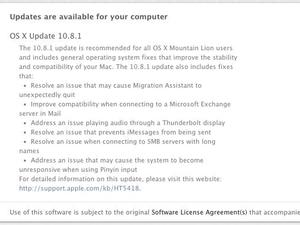 Apple Rolls Out First Mountain Lion Update; No Mention of Battery Fix