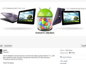 Jelly Bean Comes to Transformer Prime and Pad Infinity