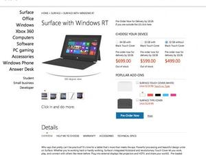 Microsoft Surface RT Tablet to Start at $499 with 32GB of Storage (Updated)