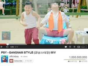 Gangnam Style Becomes First YouTube Video to Break 1 Billion Views