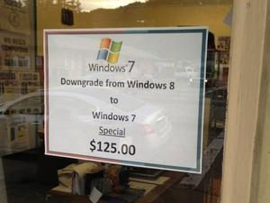 This Shop Will Charge You $125 to Downgrade Your Windows 8 Machine