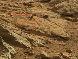 Did the Mars Curiosity Rover Snap a Picture of Some Weird Alien Metal?